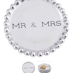 Mudpie mr and mrs silver coasters